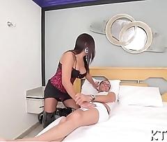 Lady-man gets orgasmic pleasure