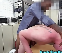 Tattooed amateur anal fucked wits black cock