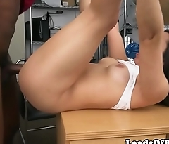 Amateur casting babe pounded on desk