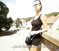 Public Blowjob For Horny Tousrist From Euro Teen Slut 13