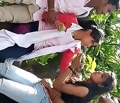 Desi girl with boyfriend in jungle