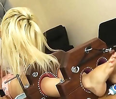 Alex Adams'_ Gorgeous Bare Feet in the Double Stocks