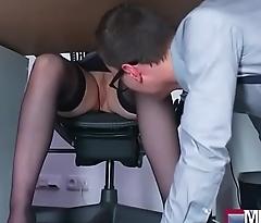 Busty Milf boss fucks big geek cock(Angel Wicky) 01 clip-07