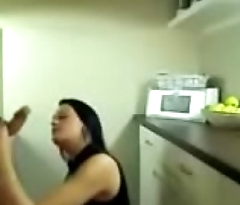 Stepson lures mum to sex in the kitchen