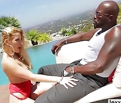 Slutty babe Ashley Fires gets an interracial aggravation reaming