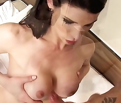 TRANS BELLA - Shemale Victoria Carvalho takes turns fucking with reference to the repair guy