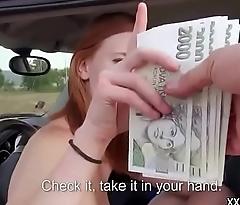 Teen Euro Amateur SLut Seduces Tourist For Public Fuck For Cash 23