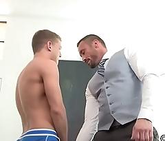 School Myles fucks his gay student Ian Levine