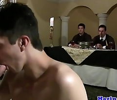 Real college stud assfucked at frat hazing