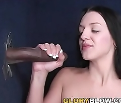 Petite Deja Dare Sucks BBC - Gloryhole