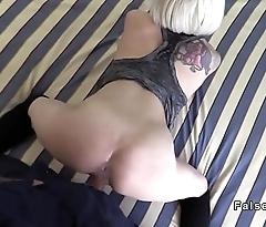 Fake cop shoves huge cock far sexy blonde
