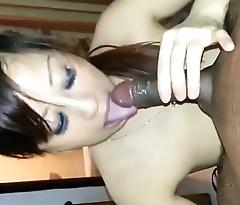 Asian sucks a Black Horseshit