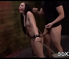 Beauty gets mouth-fucked coarse
