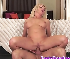 Busty cougar floosie banged in various poses