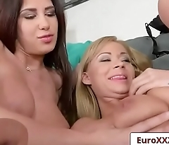 Euro Sex Party Fuck - Breast Friends with Ayda Swinger and Peneloppe Ferre clip-02