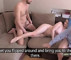 Fake agent fucked with couple