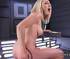 Long legged toute seule beauteous machine fucked