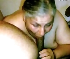 Granny Lynne Gets Face Fucked and a Bite be worthwhile for Cum