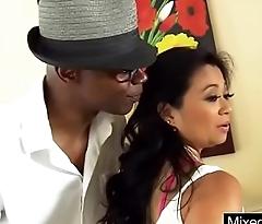 (lucky starr) Gorgeous Sluty Milf In Mixt Sex On Black Monster Dick clip-13