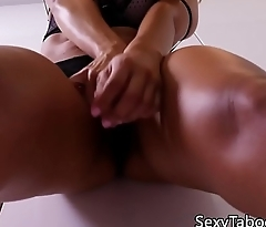 Fantasy latina beauty cockriding and sucking