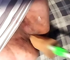 Young man pussy huge dildo
