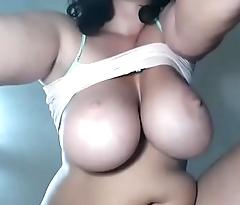 Huge tits wife anal plug show