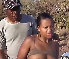 chubby african indulge outdoor fucked