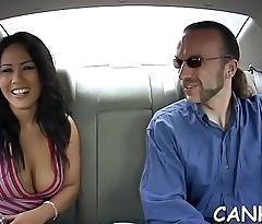 Obscene pornstar rides on a shlong