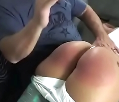 Mouthy Latina Spanked Hard OTK