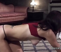 Step cousin bangs brunette in bondage