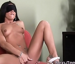 Blindfolded 18yo cockrides doctor after bj