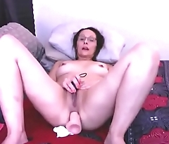 Mature star with glasses fucks will not hear of asshole