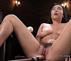 Curved busty spoil shafting machine and squirting