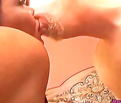 Busty shemale gets banged by her male lover