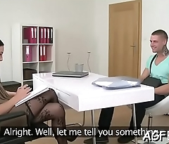 Non-stop fucking with a female agent