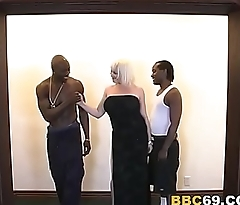 Busty MILF Kat Tries Double Penetration All round BBC