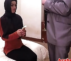 Dicksucking arab beauty bouncing on big cock