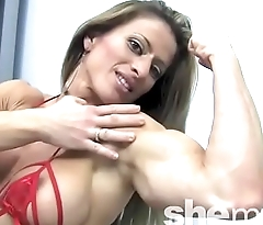 Sexy Female Bodybuilder Maria Garcia Strips Off Her Dress