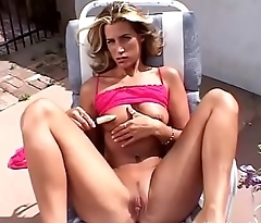 Blonde Wife Outdoor By The Pool