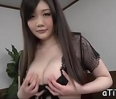 Tantalizing japanese titty fuck