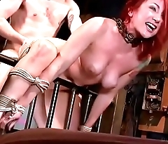 Redhead PAWG Sophia Locke is doggyfucked eternal in rope bondage
