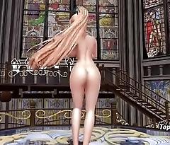 Sexy Big Tits Blonde Dance 3D
