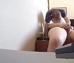 The spy cam records the erotic massage and the oral sex ADR0457