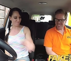 Function Driving School Cheating learners tight pussy filled with cum