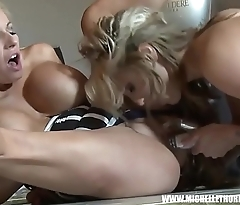 Busty blonde lesbians sluts fuck toys