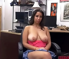 Latina babe takes a heated fuck with pawnmans flannel