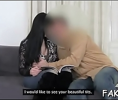 Big cock bangs fake agent'_s ribald cleft