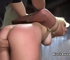 Rope bondage training with the addition of imprecise sex