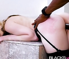 Blonde Lily Rader rides a giant black cock