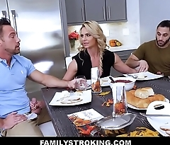 MILF Stepmom Threesome With Father With an increment of Son